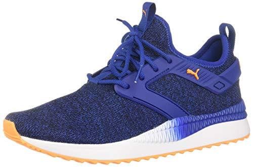 PUMA - Mens Pacer Next Excel Variknit Shoes, Size: 10 D(M) US, Color: Surf The Web/Orange Pop/Puma ()