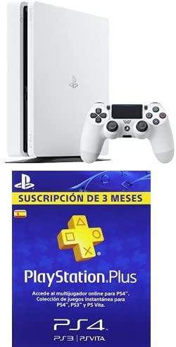 PlayStation 4 Slim (PS4) - Consola de 500 GB, Color Blanco + PSN ...
