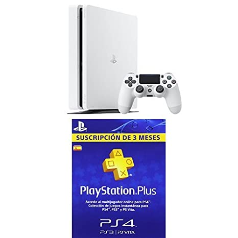 PlayStation 4 Slim (PS4) - Consola de 500 GB, Color Blanco + ...