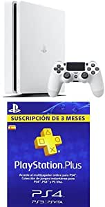 PlayStation 4 Slim (PS4) - Consola de 500 GB, Color Blanco + PSN Plus Tarjeta 90 Días: Amazon.es: Videojuegos