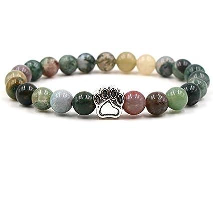 Amazon.com: Gabcus Natural Lava Stone Beads Chakra Bracelet ...