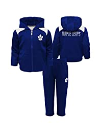 Toronto Maple Leafs Infant Catcher Performance Zip-Up Hooded Jacket & Pant Set