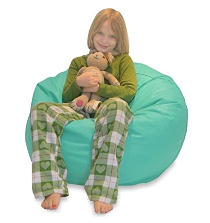 Excellent Amazon Com Comfy Bean Beanbag Small Vinyl Aqua Kitchen Frankydiablos Diy Chair Ideas Frankydiabloscom