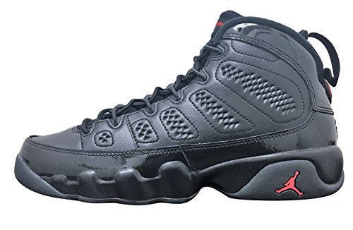 Jordan Retro 9'' Bred Black/University Red (Big Kid) (6 M US Big Kid) by NIKE