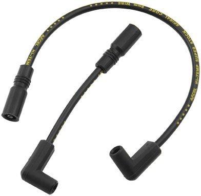 (ACCEL Super Stock 8MM Ferro-Spiral Core Black Wire Set 171100-K)