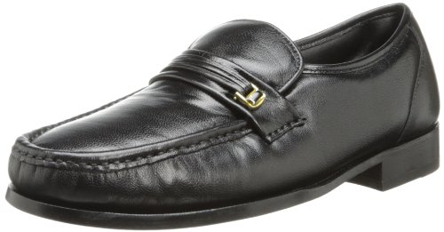 Florsheim Men's Dancer Loafer,Black,12 D - Leather Sole Dress Shoes