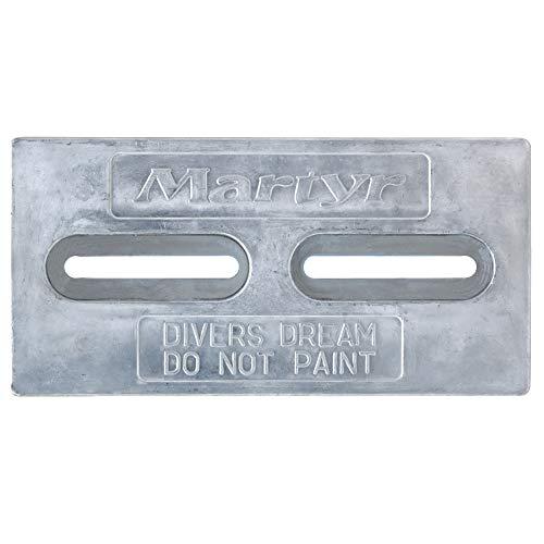Martyr CMDIVERZ, Zinc Alloy Pleasurecraft Divers Dream Slotted Bolt-on Plate anode