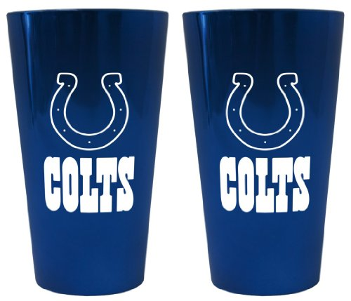 (Boelter Brands Indianapolis Colts Lusterware Pint Glass Set)
