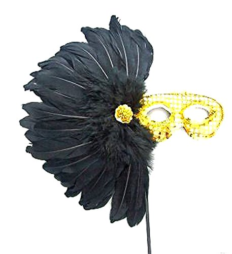 Aztec Princess Wand Feather Mask Halloween Mardi Gras