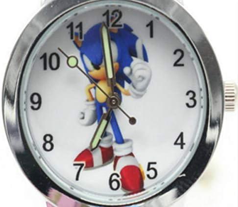 YUNMEI Montre Sonic Hedgehog Nouvelle Arrivée Été Fashion Kids Cartoon Sonic Lovely Watch Enfants Étudiants Filles Garçons Bonbons Montres Reloj Mujer KOL Saati