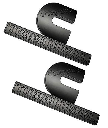 4pcs Dodge RAM 3500 Emblems Puus Cummins Turbo output Badge 3D Emblems Decals stickers Nameplates Replacement for Dodge Ram 3500 flat Letter