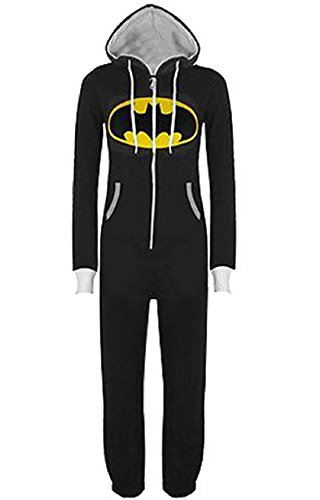 Koveinc Sleepsuit Pajamas Costume Cosplay Homewear Lounge Wear-Black-Medium ()