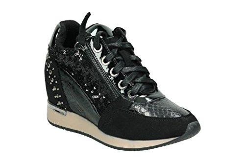 XTI 48262, Zapatillas Altas para Mujer Negro (Black)