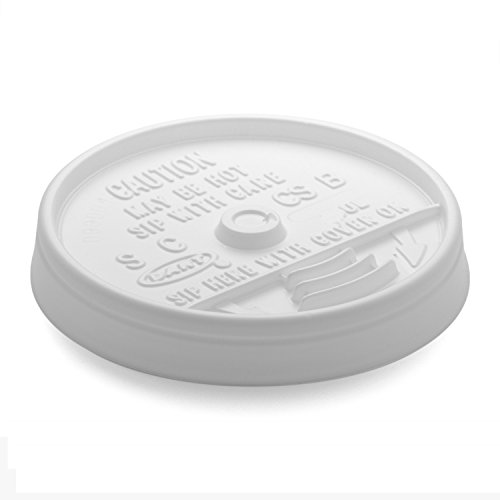 Dart 12UL White Plastic Sip-Thru Lid For 12J12 Foam Cup -