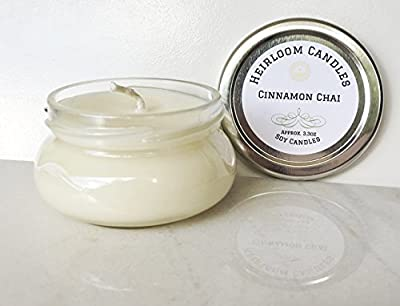 Cinnamon Chai Scented Soy Candle Handmade, 3.3oz