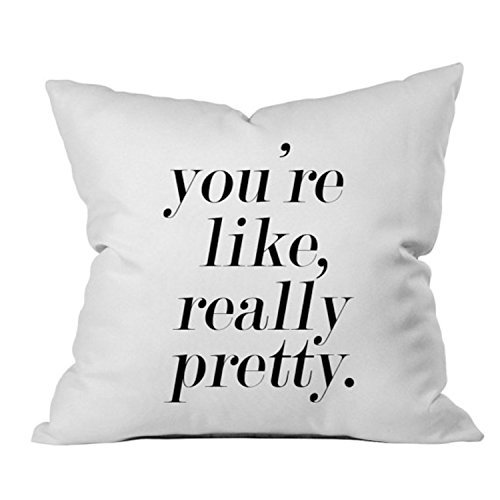 Oh, Susannah You're Like Really Pretty Throw Pillow Cover (18x18 inch, Black) Anniversary Gifts for Her
