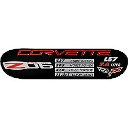 C6 ZO6 Corvette Spec Data ID Metal Plate Emblem LS7 505HP 06-13 Z06