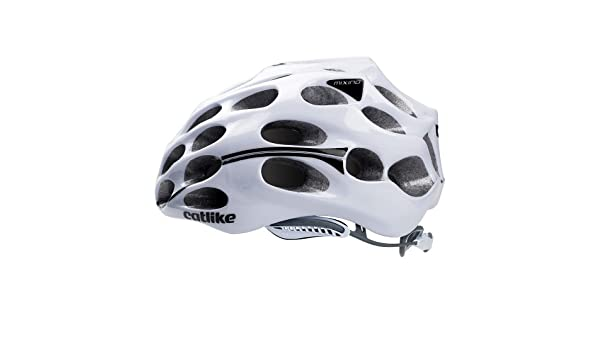 Amazon.com : Catlike Mixino Helmet (White Black 14, L) : Sports & Outdoors