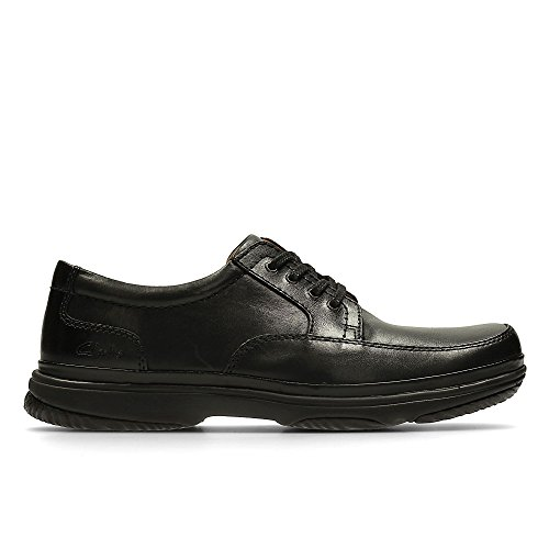 Clarks Swift Mile Mens Lace Up Shoes in Black or Mahogany Leather Black Leather mGWNw