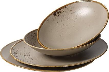 Villeroy & Boch Vivo Group Stone Ware Brown Juego de mesa, 4 piezas, Gres