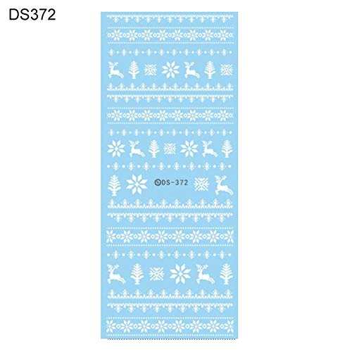 CHoppyWAVE Nail Sticker, Water Transfer Christmas Style DIY Nail Art Sticker Women Manicure Decals Decor - DS372