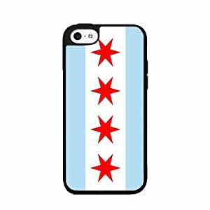 Chicago Flag- TPU RUBBER SILICONE Phone Case Back Cover iPhone 5 5s