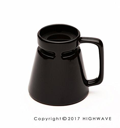 Hotjo Travel Mug 18 oz. (Black) (Base Wide Coffee Ceramic Mug)