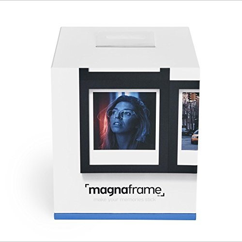 magnaframe Magnetic Picture Frame for Polaroid Instant Photos - Photo Gallery 6 Pack - Black