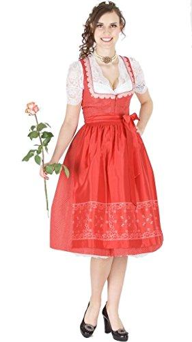 14125 Wenger Dirndl Gerda 70er rot
