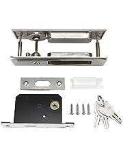 Deurslot Set,Zinklegering schuifdeur Lock Lock Handvat Set Badkamer Balkon Kast Deur Hardware Fittings