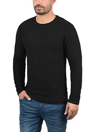 Pullover Maglione Da 100 Con Uomo Maglieria Produkt Perro Cotone Girocollo Black In w1g5H