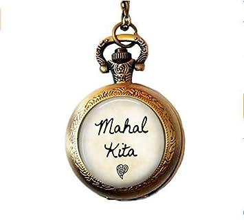 Mahal Kita Pocket Watch Necklace - I Love You - Tagalog Philippines Pocket Watch Necklace -