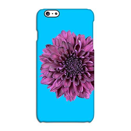 Purple Flower On Blue Deflector Back Case for Apple iPhone 6 6S Plus