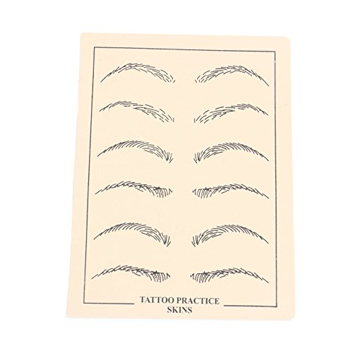 Eyebow Tattoo Practice Skin - Yuelong 3PCS Tattooing Microblading Skin Practice ,Permanent Makeup Eyebrows Fake Skin Sheets for Professionals and Beginners for Tattoo Supplies,Microblading Supplies