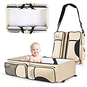 Koalaty 3-in-1 Universal Baby Travel Bag, Portable Bassinet Crib, Changing Station, Diaper Bag for infants and newborns. The best baby shower gift for new mom and dad.