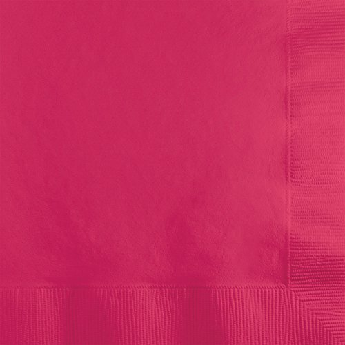 Creative Converting 500 Count Touch of Color 3-Ply Paper Beverage Napkins, Hot Magenta (Magenta Beverage Napkins)