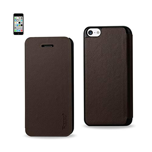 Reiko Design Clear Protector Cover for iPhone 5C - Retail Packaging - Brown