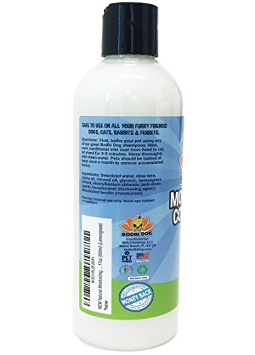 NEW Natural Moisturizing Pet Conditioner | Conditioning for Dogs, Cats and more | Soothing Aloe Vera & Jojoba Oil | Professional Grade Treatment - Made in the USA - 1 Bottle 17oz (503ml) (Lemongrass) by Bodhi Dog (Image #5)