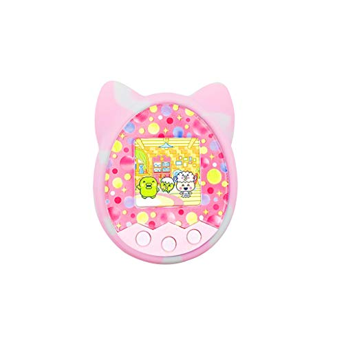 Viviplus – Protective Cover Shell Silicone Case Pet Game Machine Cover for Tamagotchi Cartoon Boys and Girls Portable Electronic Pet Game Machine for Over 6 Years Old Children (Pink)