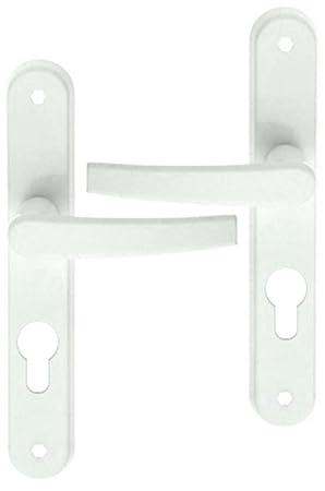 Poigne De Porte DEntre Design En Aluminium Laqu Blanc Sur Plaque