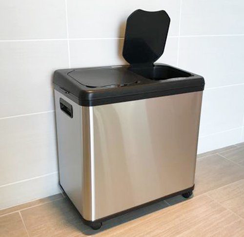 iTouchless 16-gallon Dual-compartment Trash And Recycling Can - Multi