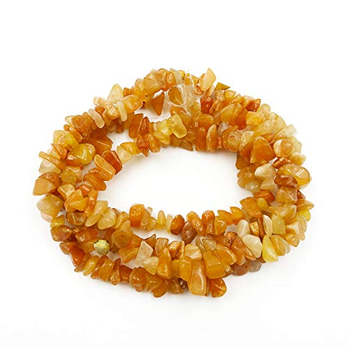 favoramulet Red Aventurine Irregular Tumbled Chips Loose Beads Strand for Jewelry Making