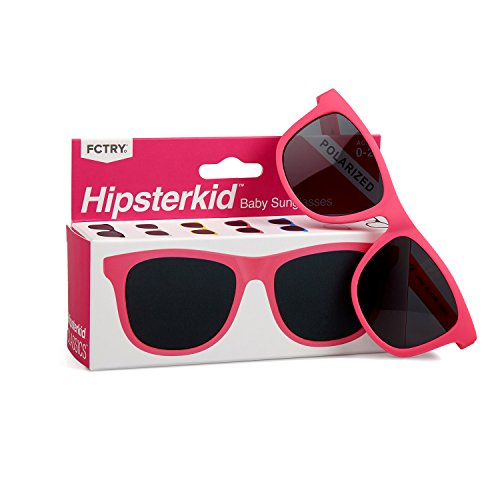 Hipsterkid BPA Free, Warranty Protected, Polarized Sunglasses for Babies, Ages 3-6, in ()