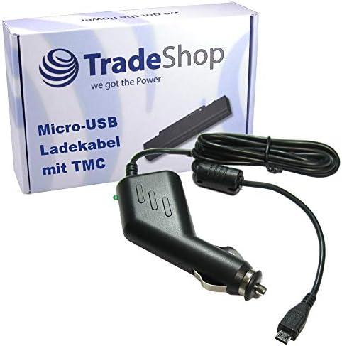 Trade Shop Premium Micro Usb 2a Kfz Ladekabel 12v 24v Mit Tmc Antenne Ersetzt 4uuc5 4uuc