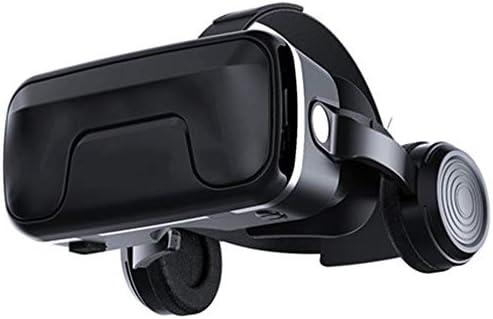 3DバーチャルリアリティメガネPUレザー没入型ゲーム調整可能なヘッドフォンあらゆる種類の3D映画に適しています。