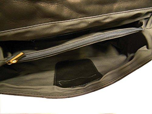 collezioni QUILTED Bolso negro canetti Napa Piel PqRfg