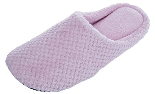 MIXIN Womens Casual Indoor Pineapple Velveteen Slippers Pink zL07dX