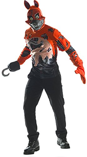 Five Nights At Freddy's Costume (Rubie's Costume Co. Men's Five Nights At Freddy's Deluxe Nightmare Foxy Costume, As Shown, X-Large)
