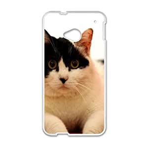 Fat Cat HTC One M7 Cell Phone Case White vtf