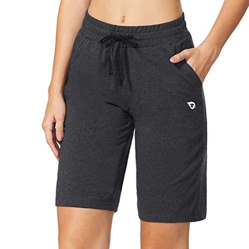 BALEAF Athletic Workout Shorts Bermuda Walking Shorts Lounge Yoga Pajama Sweat Shorts with Pockets Activewear